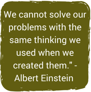 We cannot solve our problems with the
